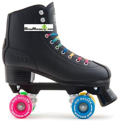 Wrotki Rio Roller Figure quad ( BLACK )